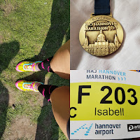 HAJ Hannover 2017 Marathon Medaille Startnummer