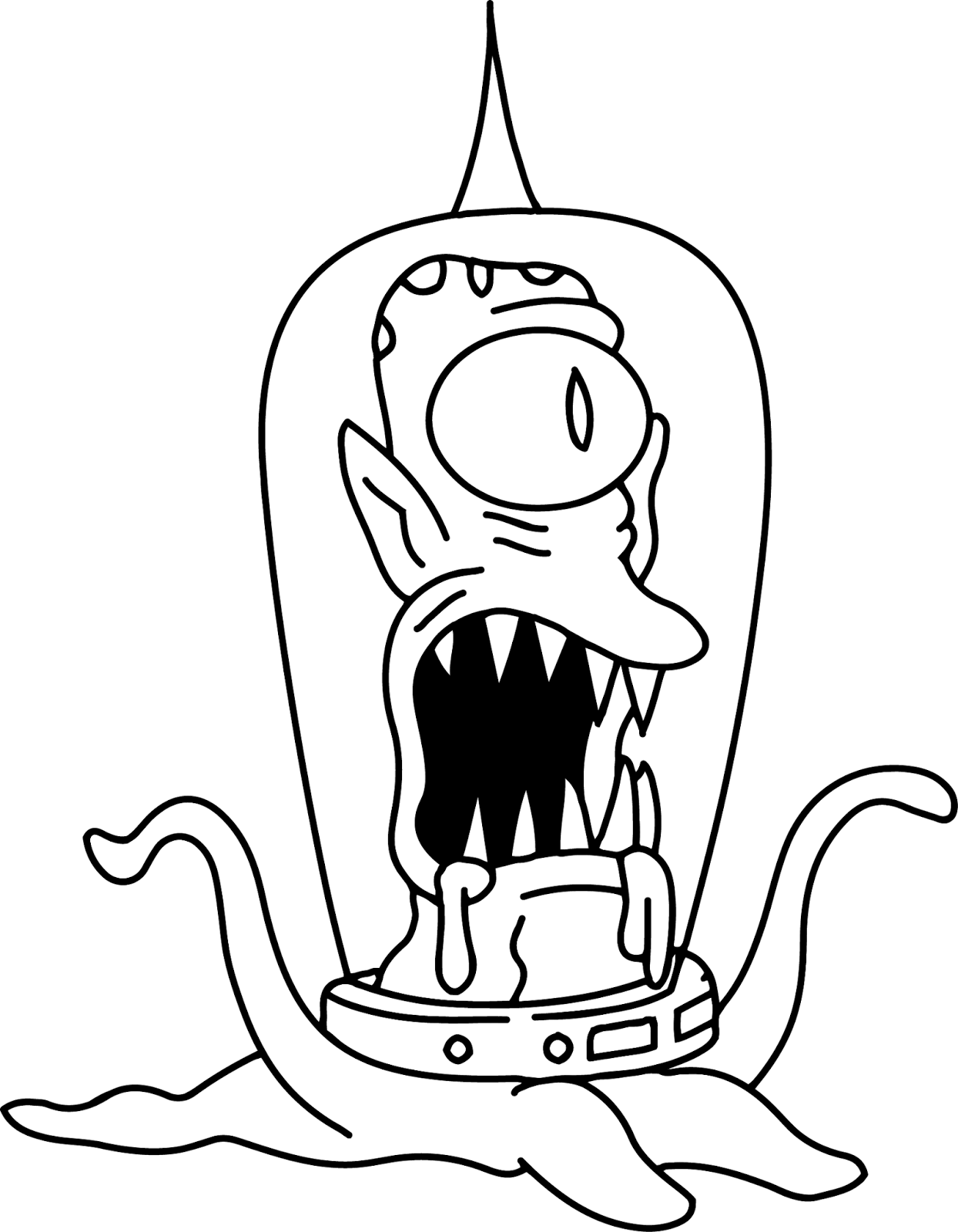 Cartoons Coloring Pages: Bart Simpsons Coloring Pages | 1600x1244
