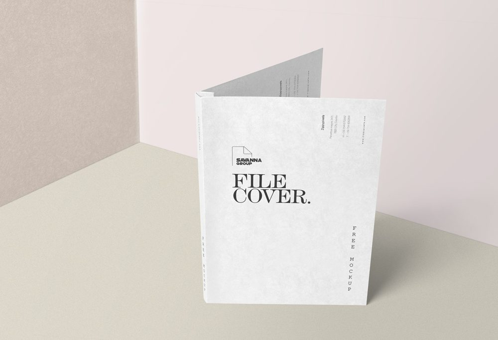 Folder File Cover Mockup