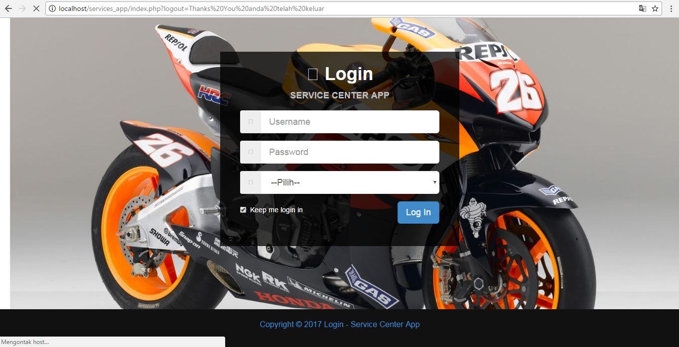 Program PHP Service/Bengkel dan Penjualan dengan PHP 7 dan MySqli