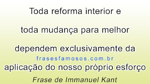 Texto de Immanuel Kant sobre Reforma Intima, mudanças de vida