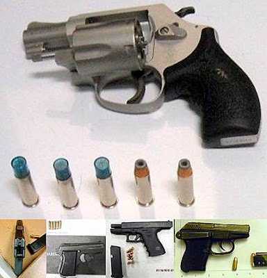 Firearms Discovered at (L-R) RDU, MSP, JAN, ATL, FSM