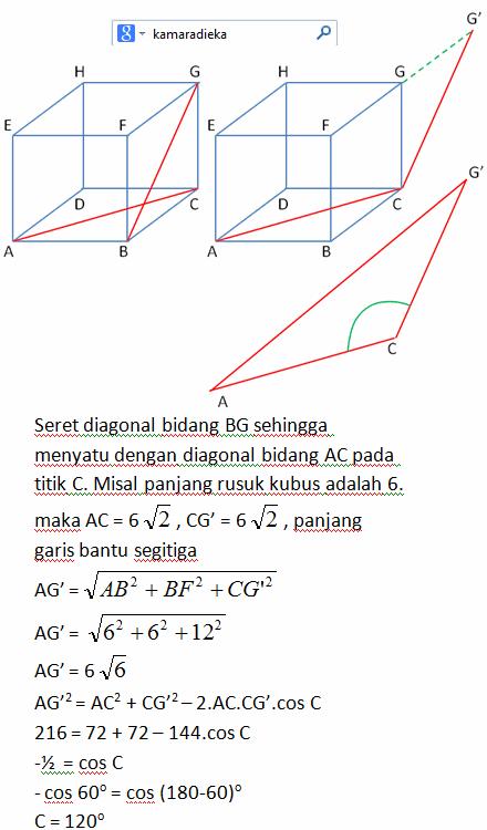 Matematika , Cara Mencari Besar Sudut dari Dua Garis pada ...