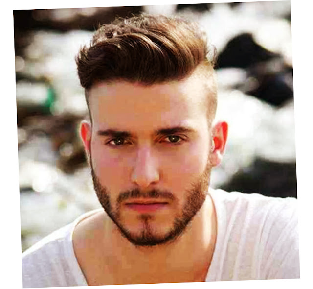 undercut hairstyle men with beard pict