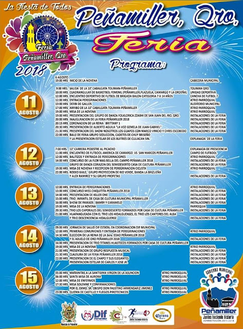 programa feria peñamiller 2018