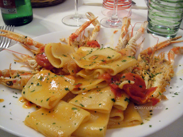 paccheri with langoustine