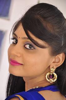 Actress Harisha Krishna Stills in Beautiful Blue Chudiddar  0008.jpg