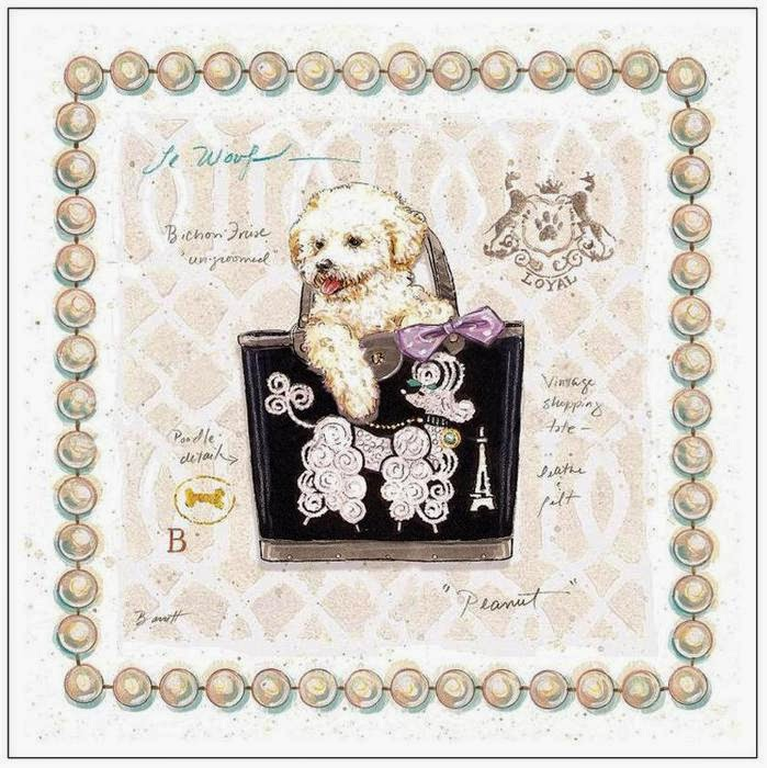 Doggie Couture Vintage para Imprimir Gratis.