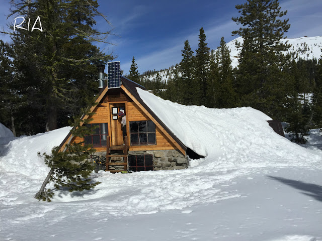 Grub Hut covered with snow