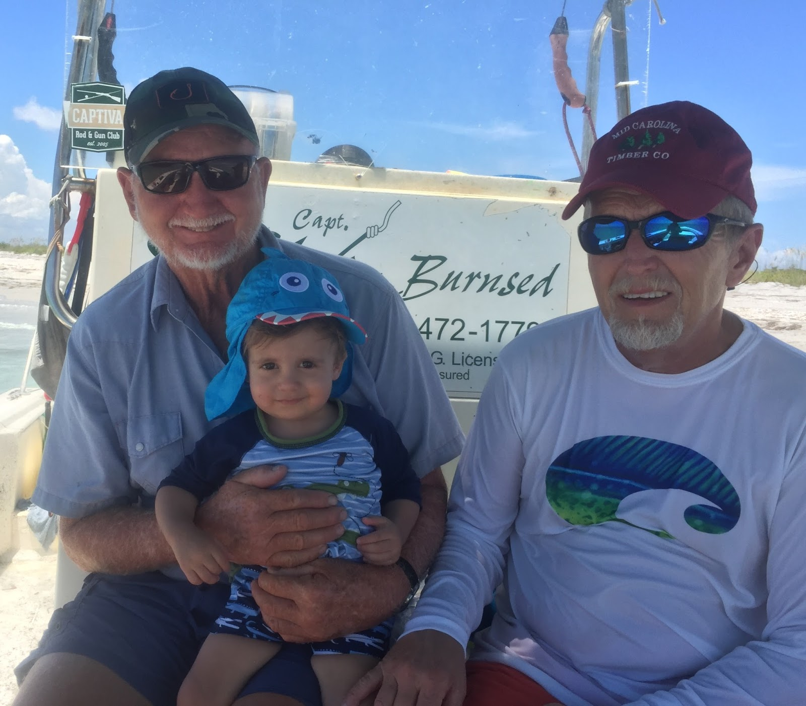 Santiva Saltwater Fishing Team Burnsed family Johnny Davis Family