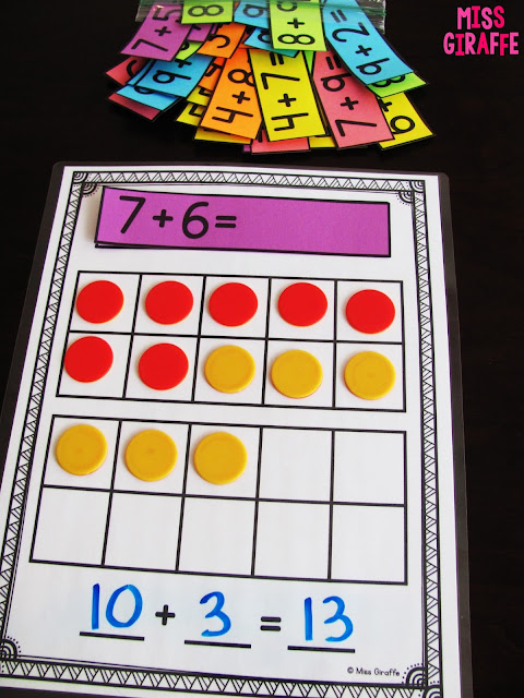 How to teach making a 10 to add with games, worksheets, and other fun ideas