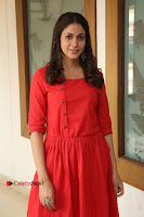 Actress Lavanya Tripathi Latest Pos in Red Dress at Radha Movie Success Meet .COM 0187.JPG