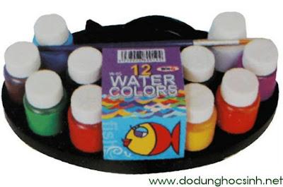 Bộ màu nước con cá 12 màu Win Q