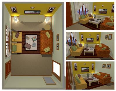 Dekorasi Ruang Tamu Rumah Sewa Interior Rumah