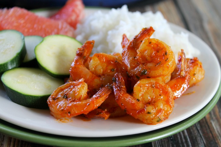Hungry Harps: Spicy Shrimp with Sweet Grapefruit Glaze