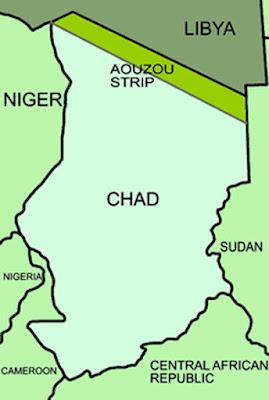 Gambar Peta batas Negara Chad