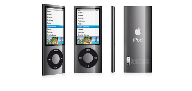 Front, side, back view of iPod Nano
