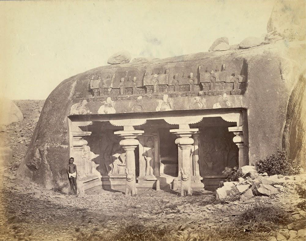 Vahara cave temple, Mamallapuram, Tamil Nadu - c.1885