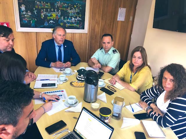 Seremi encabeza reunión con servicios dependientes del Ministerio de Justicia y DDHH