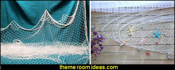 fishnet decoration  mermaid party decorations - mermaid party ideas - mermaid themed birthday party - ocean theme party decorations - under the sea party - little mermaid birthday party ideas - beach party - water theme parties - mermaid table decor - party props  under the sea birthday party - under the sea theme party table