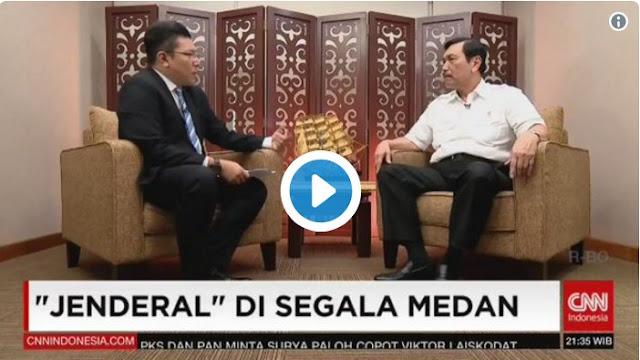Luhut Emosi Ditanya Reklamasi Oleh Presenter CNN Alfito Deannova