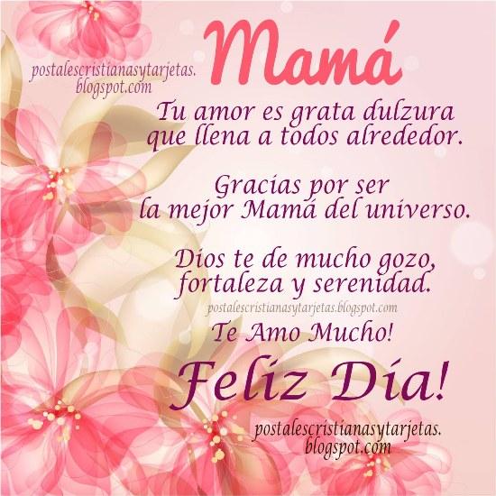 Tarjetas, Lindas Imágenes para la Madre en su Feliz día con Mensajes Cristianos, frases cristianas de bendiciones para Mamá por Mery Bracho