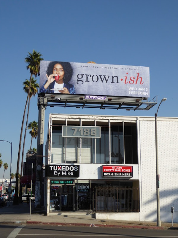 Grownish series launch billboard