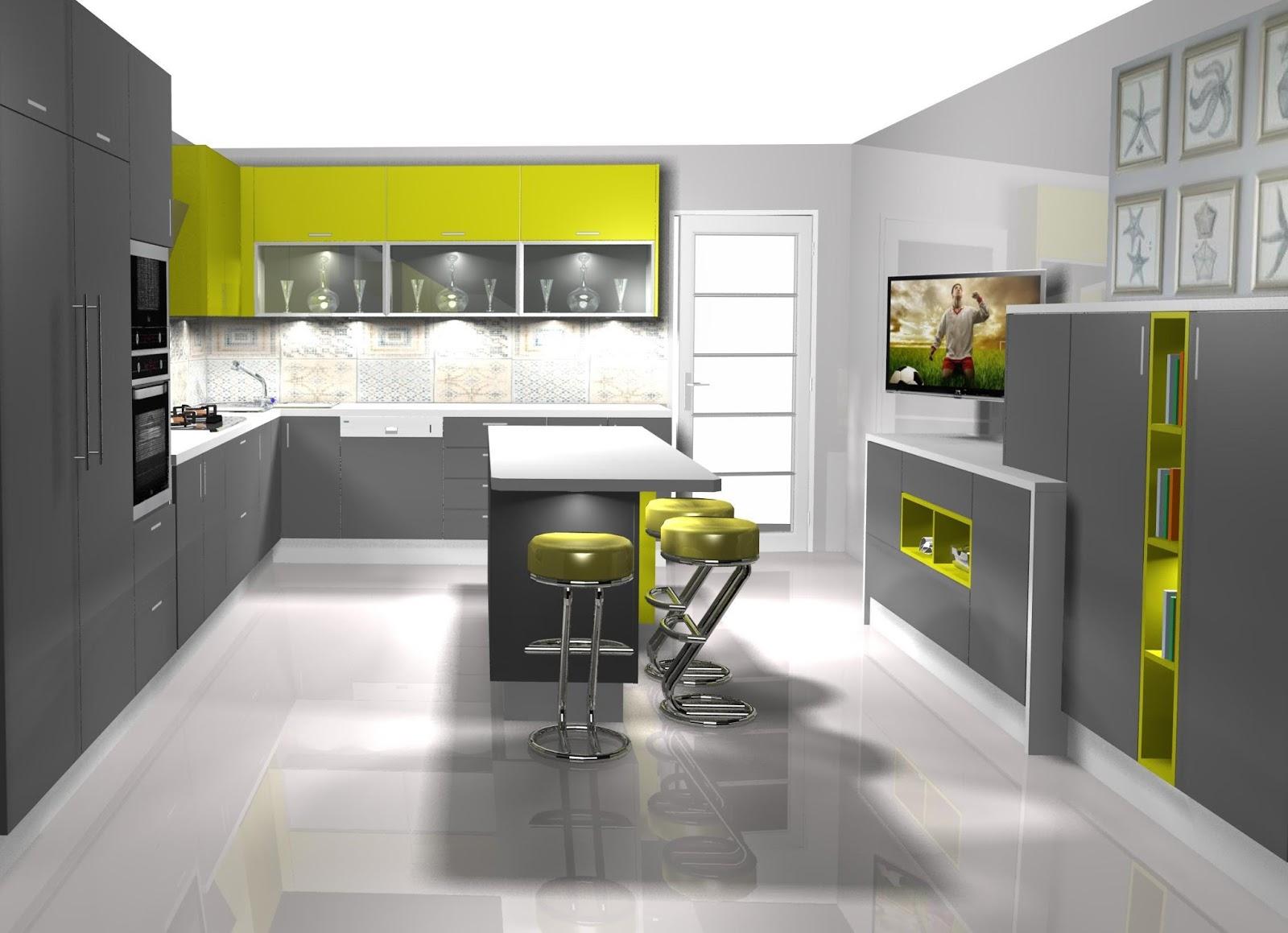 Dise o muebles de cocina dise o de cocina laminado en for Muebles de cocina gris