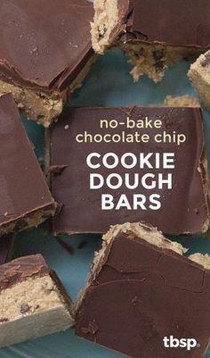 No-Bake Chocolate Chíp Cookíe Dough Bars