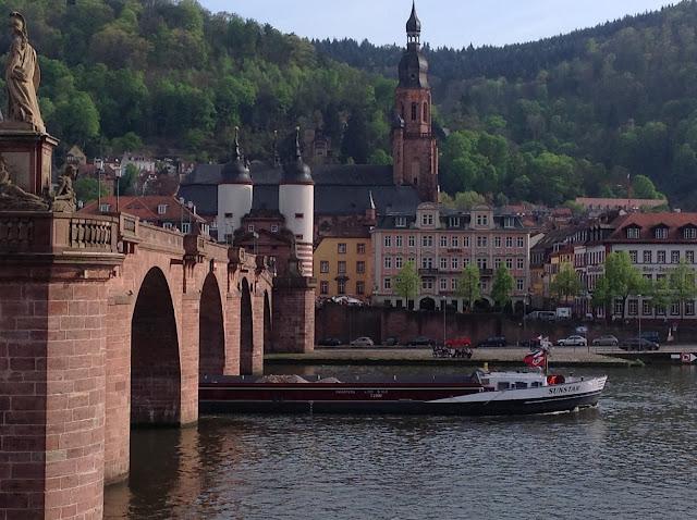Heidelberg Altstadtpanorama mit Hotel Holländer Hof
