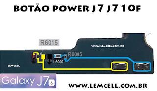 Jumper Solução Botão Power Smartphone Samsung J7 J710 F   Samsung J7 J710F Power Key Terminal Jumper Ways Solution