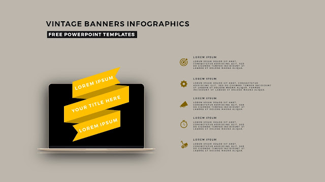 Vintage Banners Infographic Free PowerPoint Template Slide 9