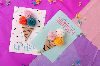Ice cream Birthday card + FREE printable