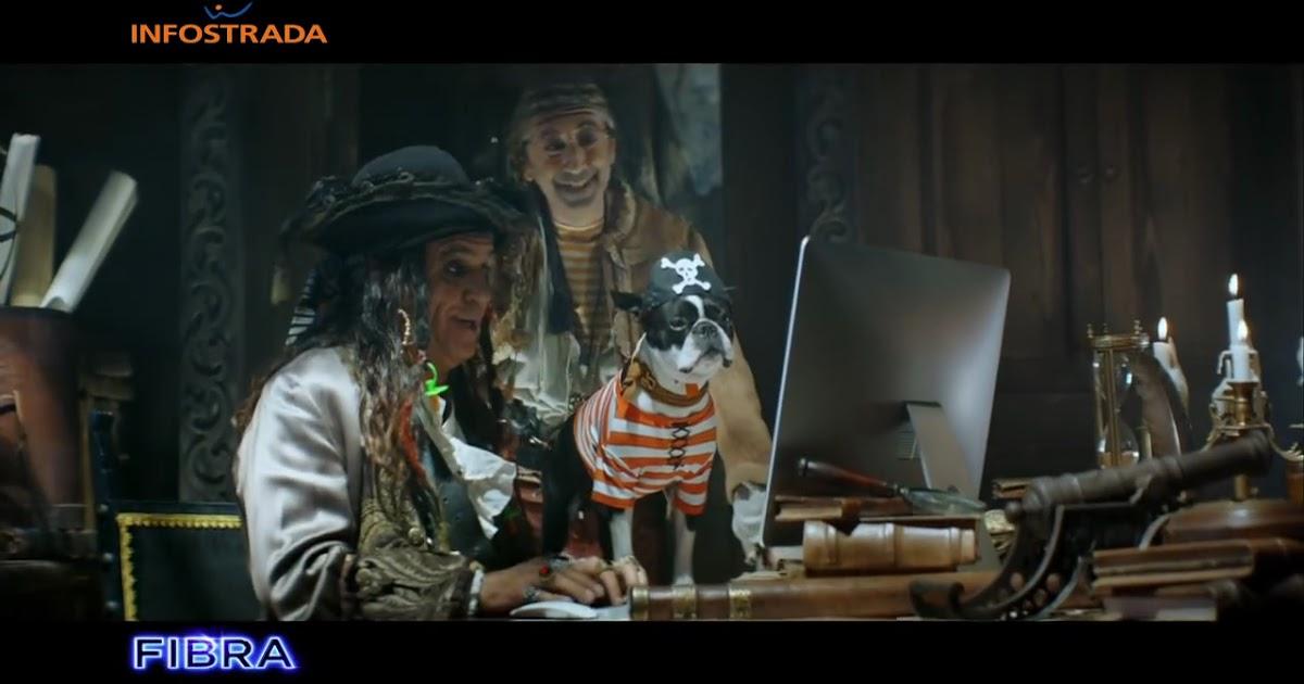 Nuovo Spot Fibra Infostrada Wind con Panariello pirata, pappagallo, cane e musica di Sia