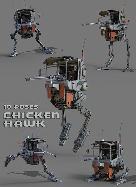 Chicken Hawk Mech Walker