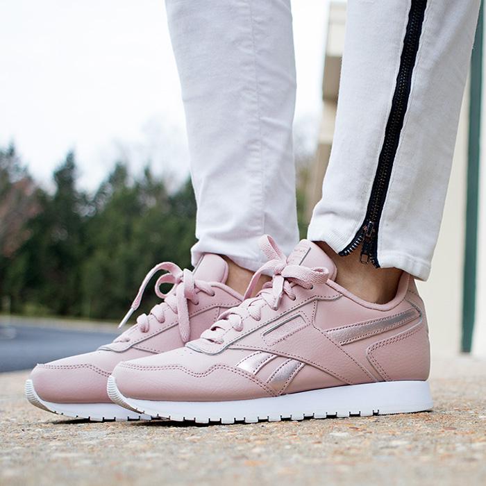 Reebok CL Harman Run shoes in rose gold