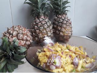 Resepi kerabu nanas style orang utara, resepi, kerabu, nenas, masakan melayu,