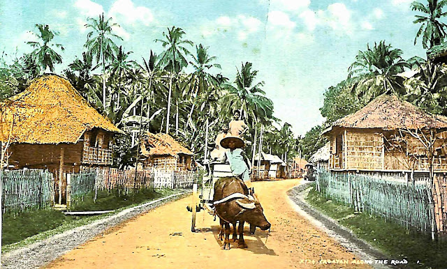 A typical American era street scene in the Philippines.  Image source:  Scrapbook of Clyde Tavenner, online at the Internet Archive.