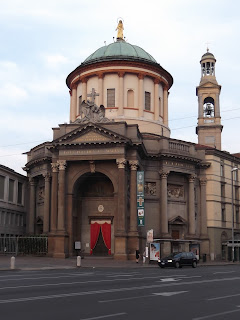 The Church of Santa Maria Immacolata delle Grazia in Bergamo's lower town