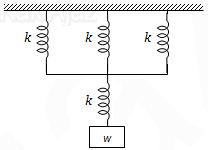 Empat buah pegas identik masing-masing mempunyai konstanta elastisitas 1.600 N/m disusun seri paralel, UN 2011