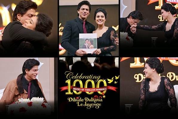Shahrukh Kajol romance at DDLJ 1000 weeks Celebration