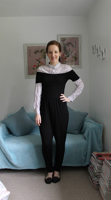 Shirt, Jumpsuit, Pull & Bear Shirt, Love heart shirt, ASOS Jumpsuit, Black Jumpsuit, Off The Shoulder, Shirts, fashion, style, blogger