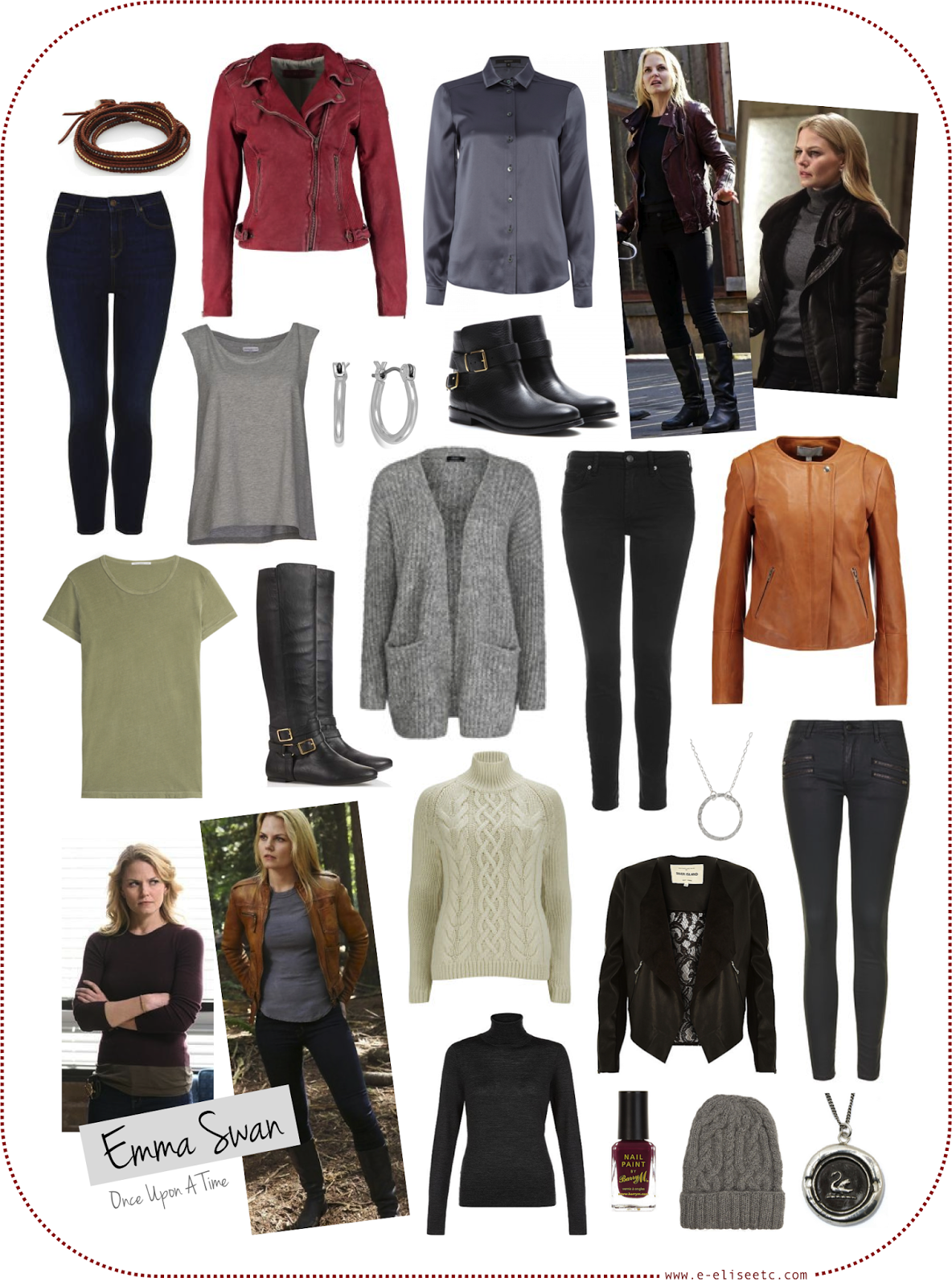 character style inspiration emma swan once upon a time