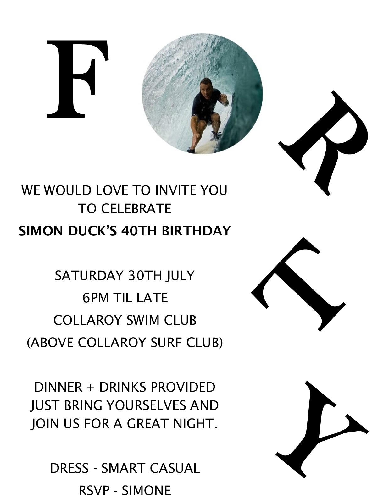 honey and fizz: Simon\'s 40th Birthday Celebration!