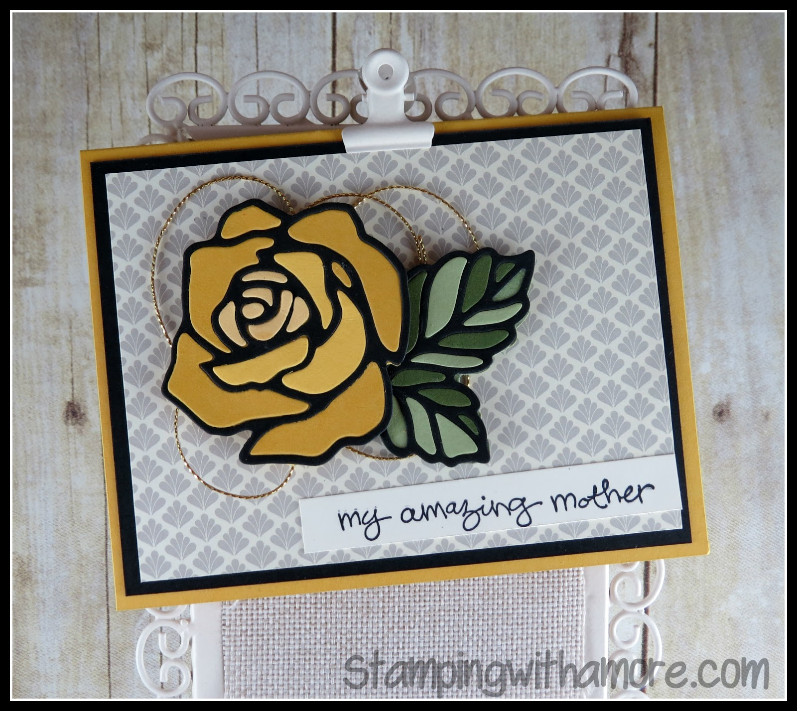 Stampingwithamore yellow rose of texas birthday card the rose garden framelits made this technique possible its perfect for it just think what a beautiful mothers day card this will make bookmarktalkfo Gallery