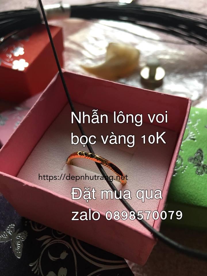 Mẫu nhẫn đơn vàng 10K 1 hàng lông voi (liên hệ zalo để cập nhật giá mới)