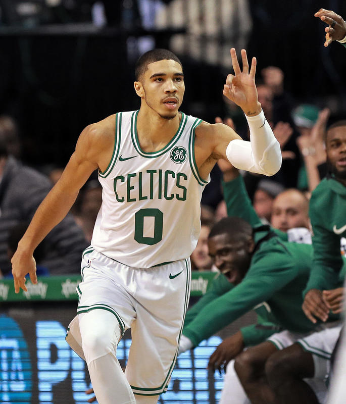 jayson tatum  Jayson Tatum already 4th in NBA history for most rookie points in ...