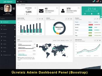 Ücretsiz Admin Dashboard Panel Teması-1
