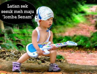 gambar tulisan bayi pegang gitar