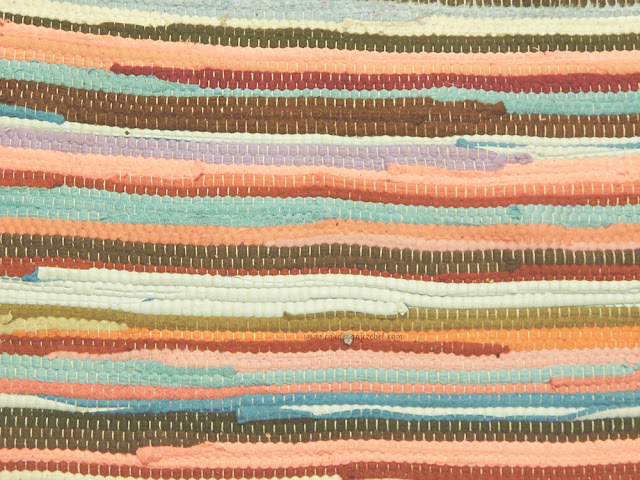 woven colorful rug